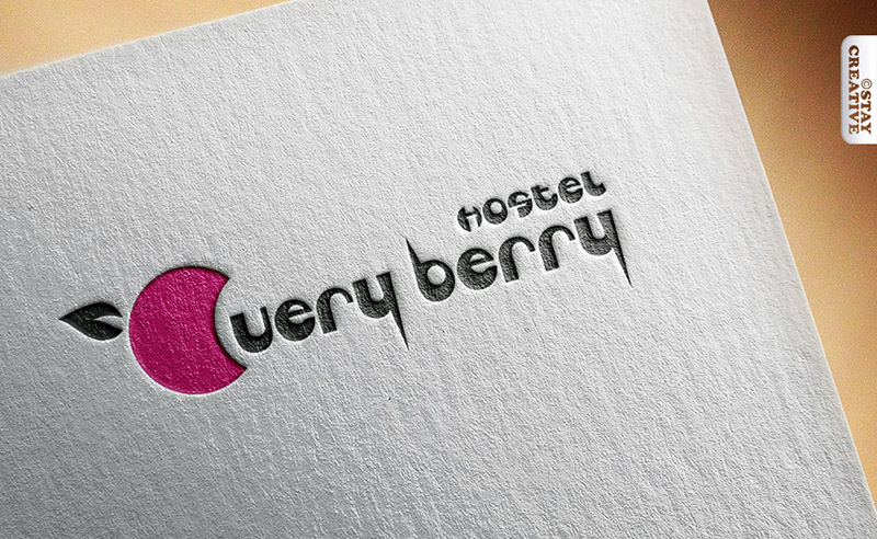 projekt logo dla hostelu Very Berry w Poznaniu