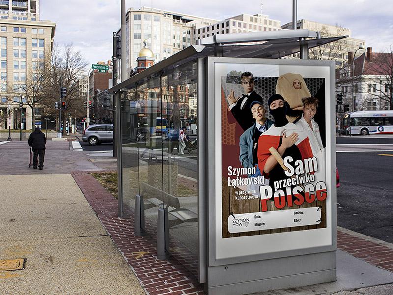 Plakat dla Komika Szymona Łątkowskiego