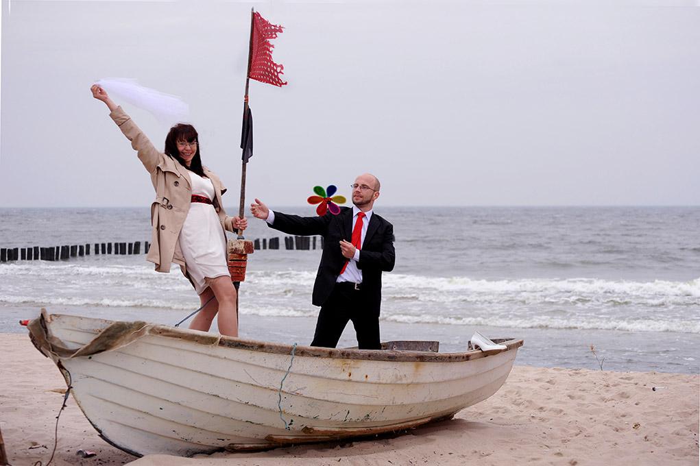 Sesja zdjęciowa Ślubna plenerowa nad morzem