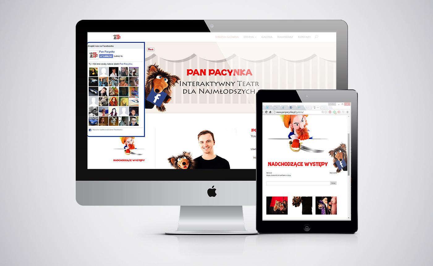 strona www dla teatrzyku dziecięcego Pan Pacynka