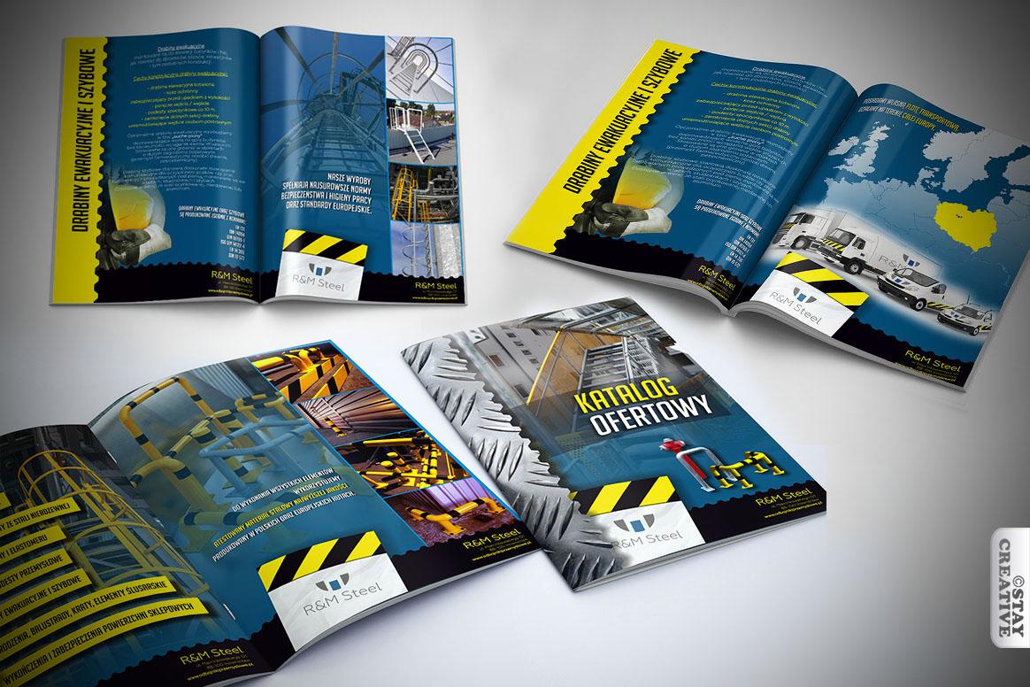 projekty graficzna dla firmy RM Steel