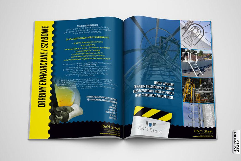 katalog ofertowy i teczka RM Steel 2x3