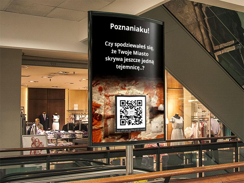 Projekt plakatu wkampanii reklamowej sklepu Fort 19