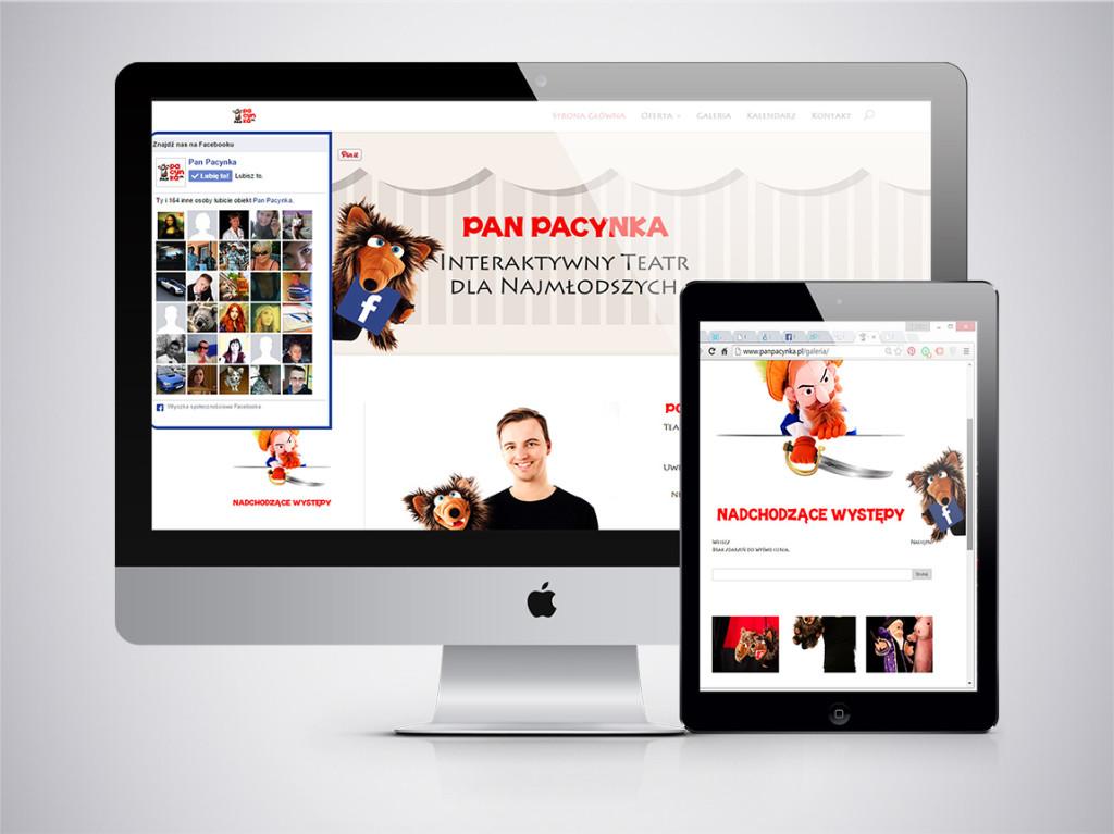 Pan Pacynka – Strona www