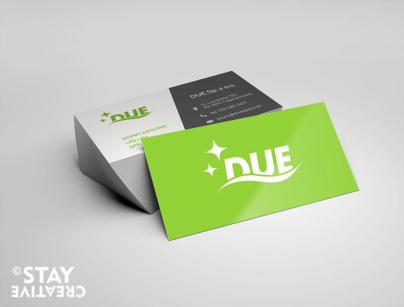 wizytówki DUE