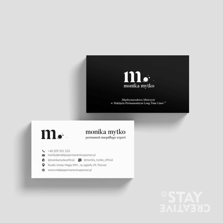projektowanie wizytówek Stay Creative - Jednoosobowa Agencja Reklamowa