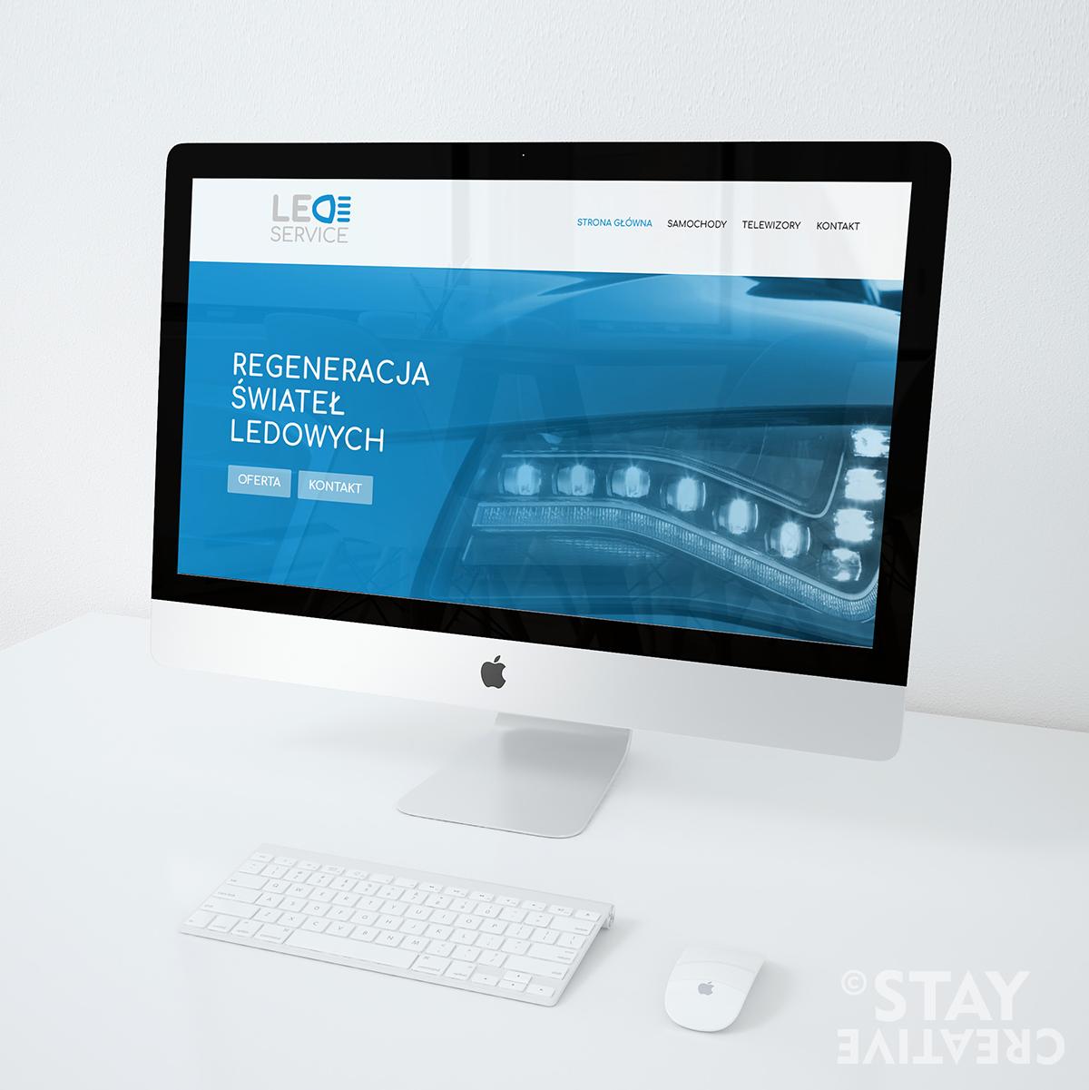 Strona internetowa dla zakładu naprawy świateł led