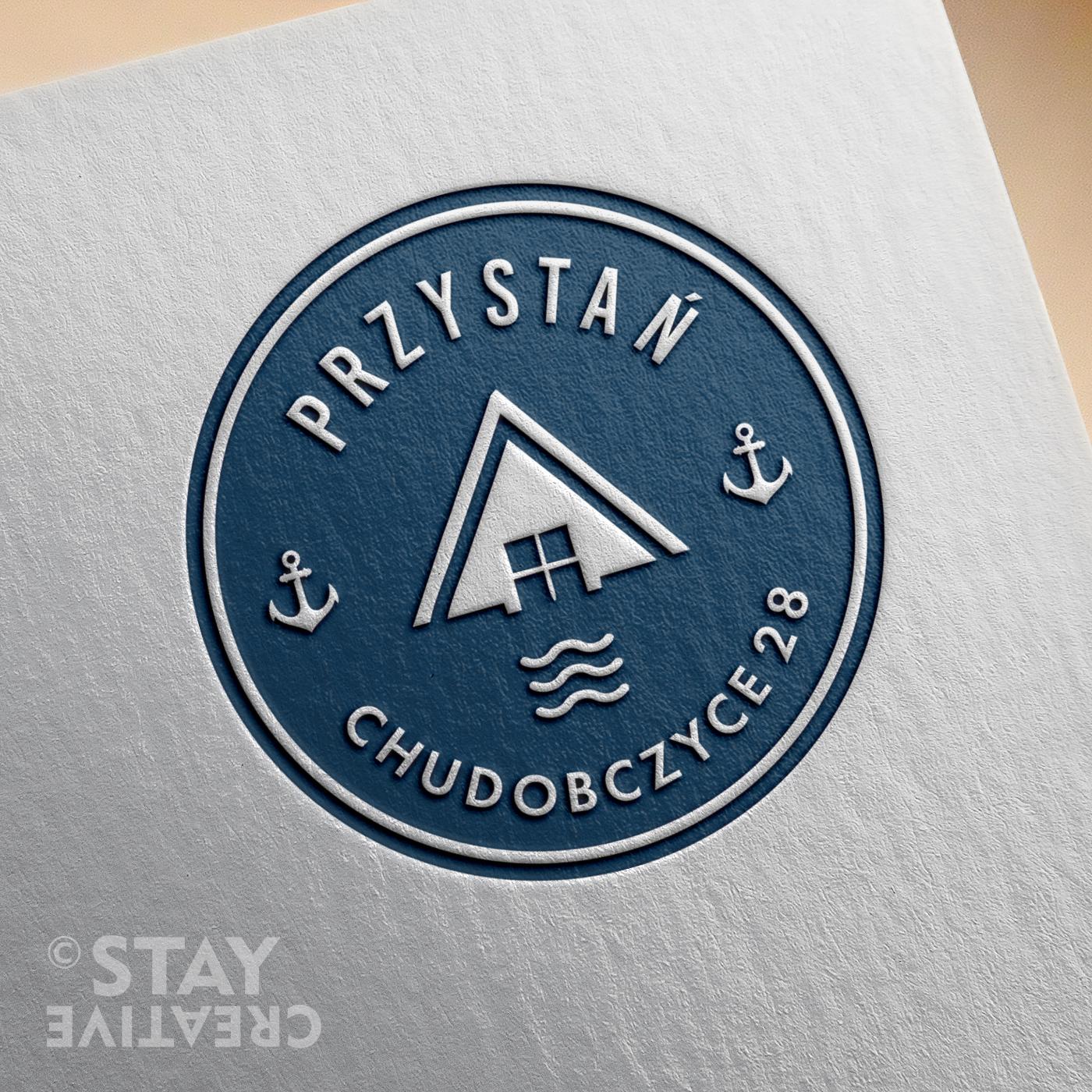 logo ośrodka wypoczynkowego Przystań Chudobczyce byStay Creative - Karolina Turlejska