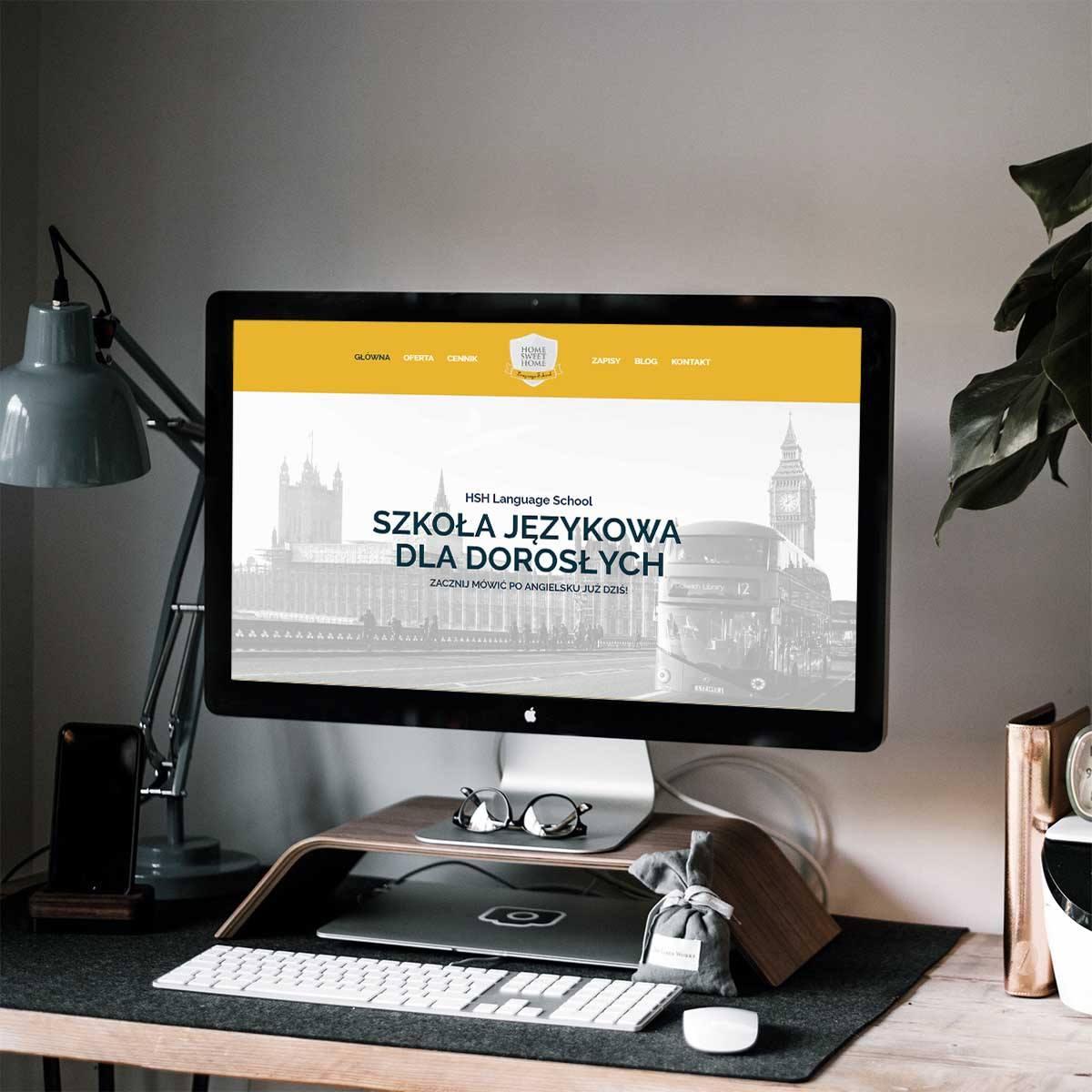strona www szkoły językowej HSH Aneta Sasin