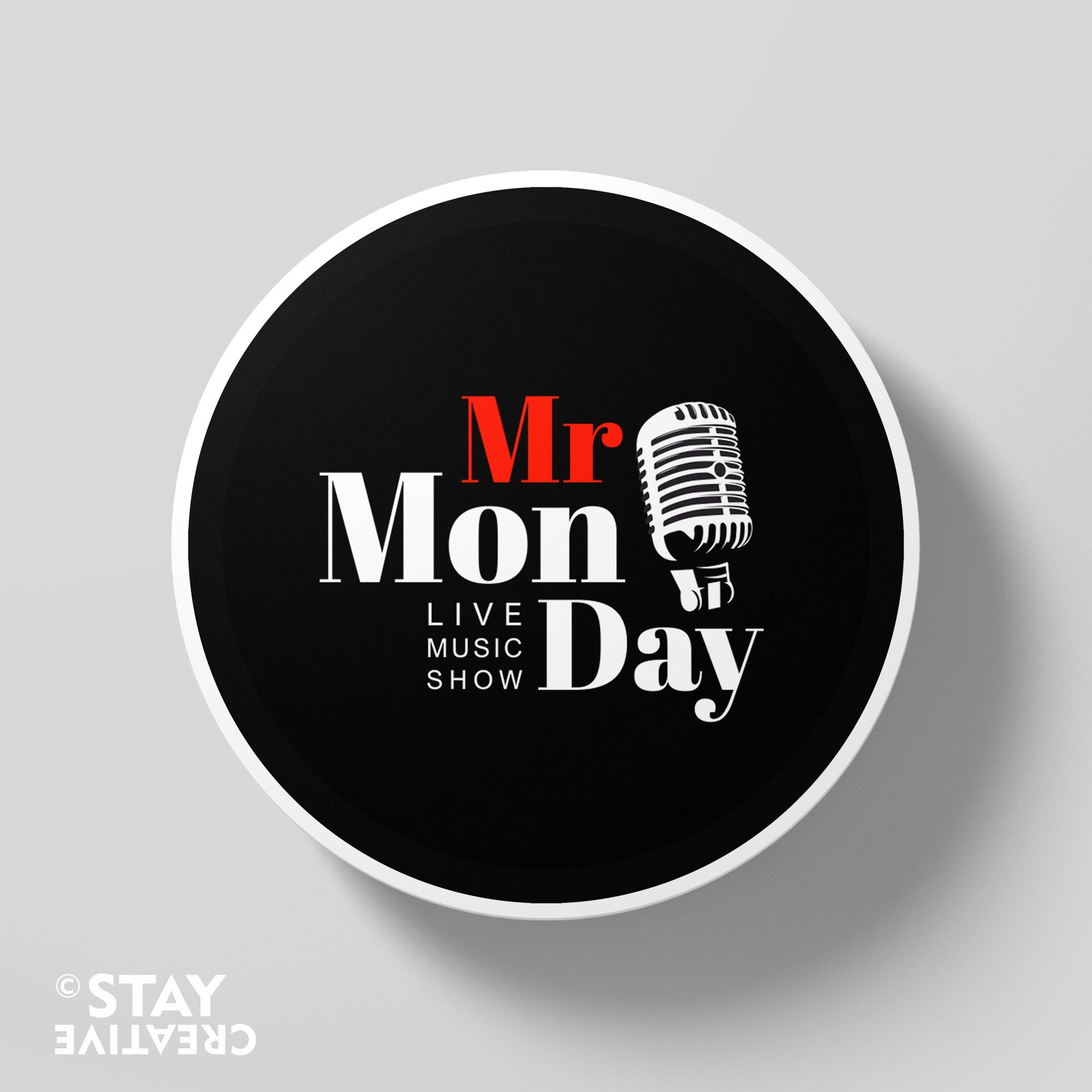 logo dla Youtubera Mr Monday (byStay Creative - Karolina Turlejska)